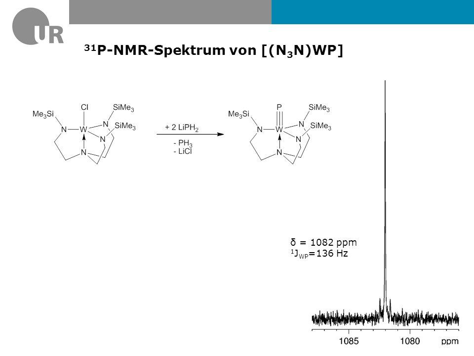 31P-NMR-Spektrum von [(N3N)WP]